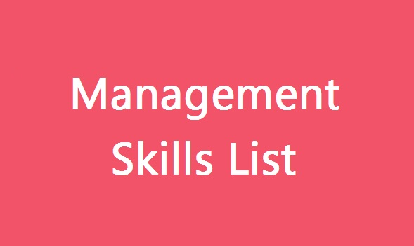 Management Skill List