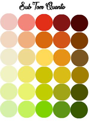 Descobrindo o sub tom da sua pele + cartela de cores
