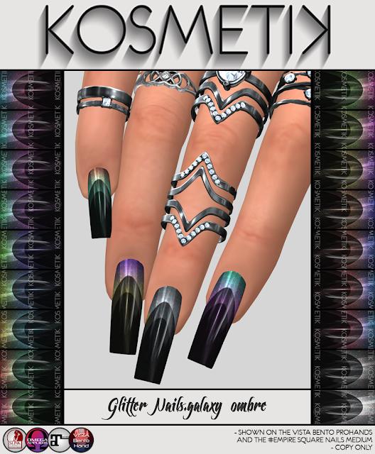 .kosmetik NEW Glitter Nails.galaxy ombre