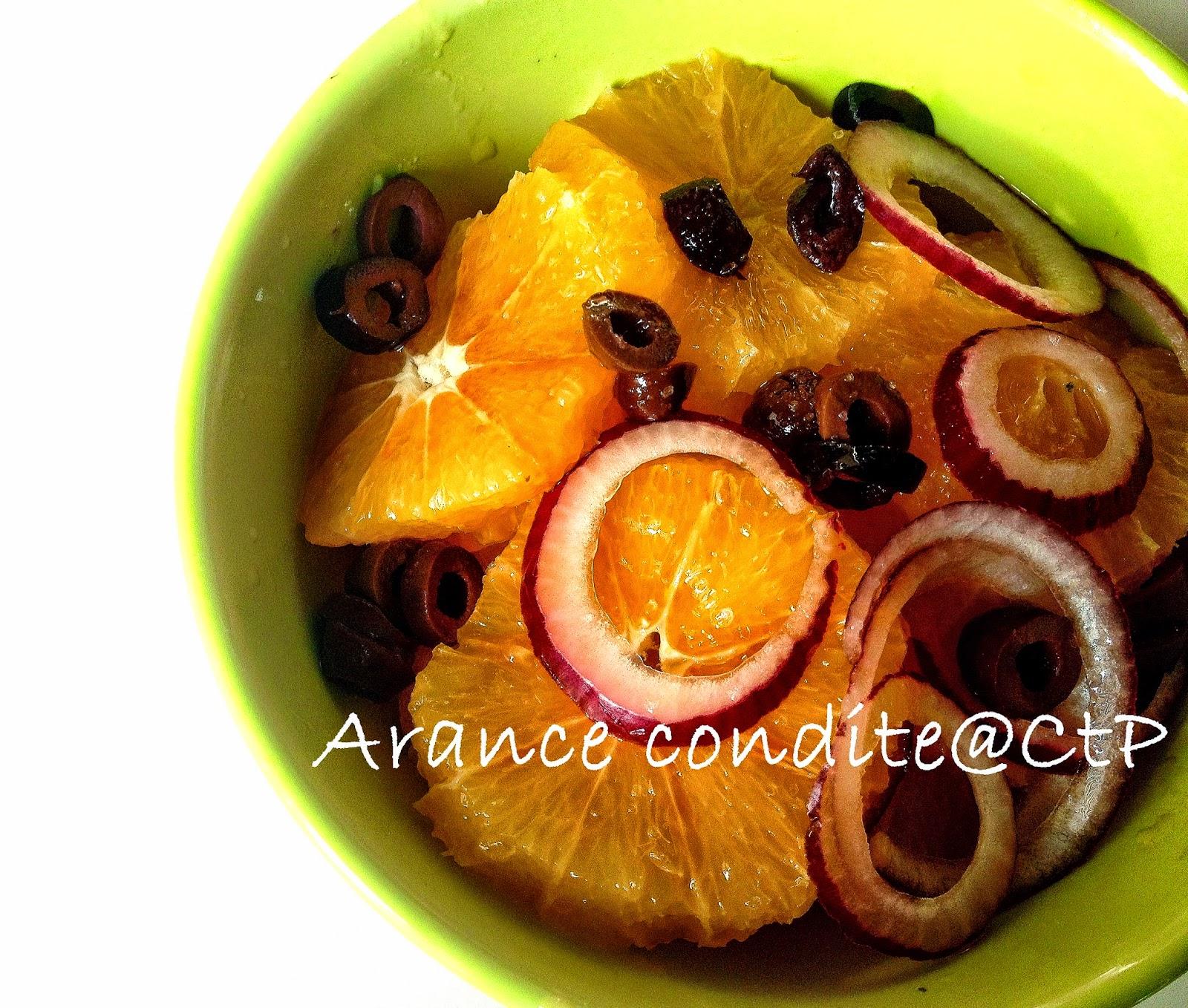 Insalata di arance cipolle e olive