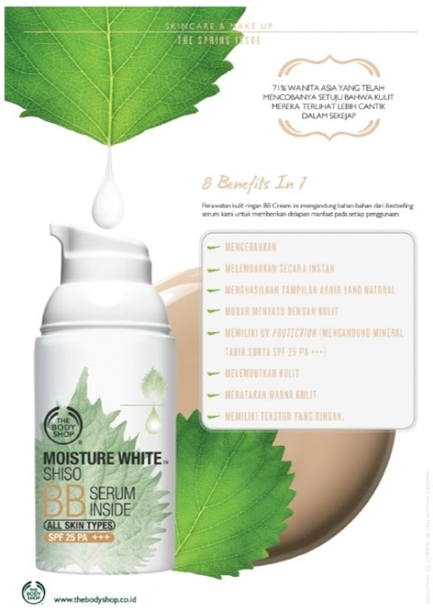 [REVIEW - FACE MAKE UP] The Body Shop Moisture White Shiso BB Serum Inside