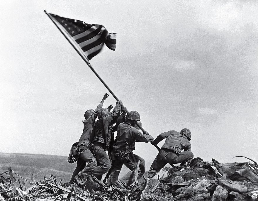 #28 Flag Raising On Iwo Jima, Joe Rosenthal, 1945 - Top 100 Of The Most Influential Photos Of All Time
