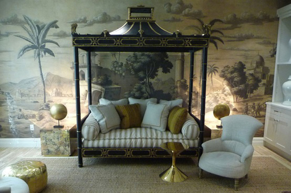 Eye for design decorating with grisaille for soft elegant - Grisaille wallpaper ...