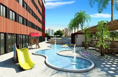 Uma ótima piscina para se reunir com família e amigos para momentos de confraternização