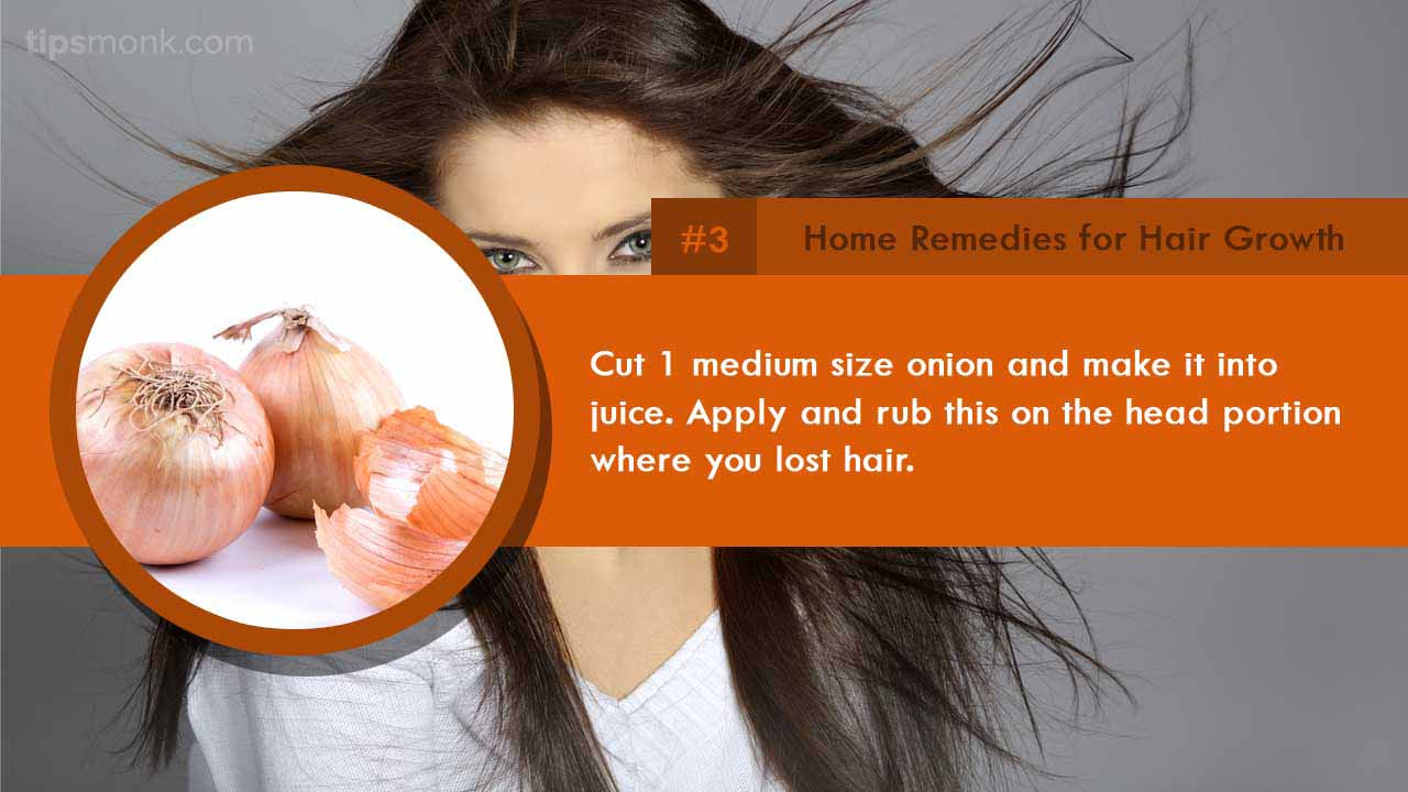 Top & best home remedies for hair growth, treat hair fall or loss naturally image - Tipsmonk