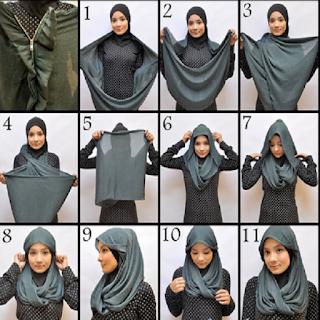 model jilbab pesta sederhana