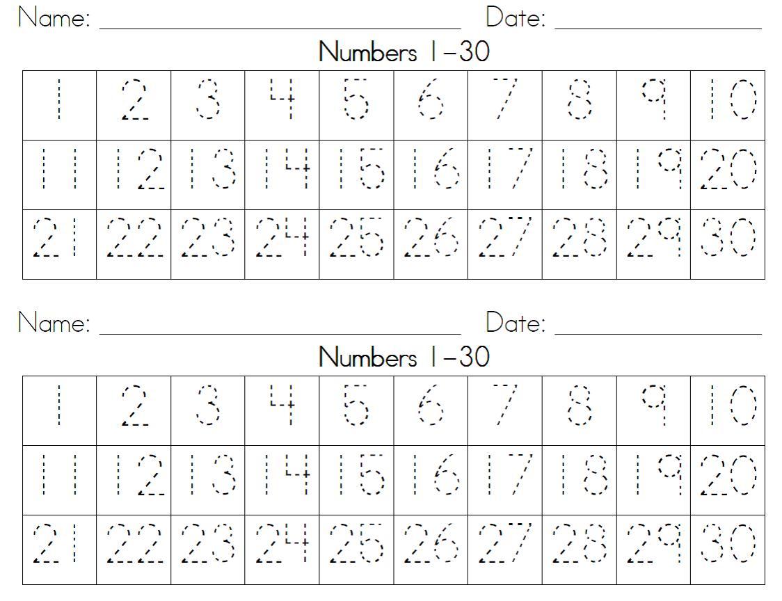 Pictures on Number Writing Practice Worksheets For Kindergarten ...