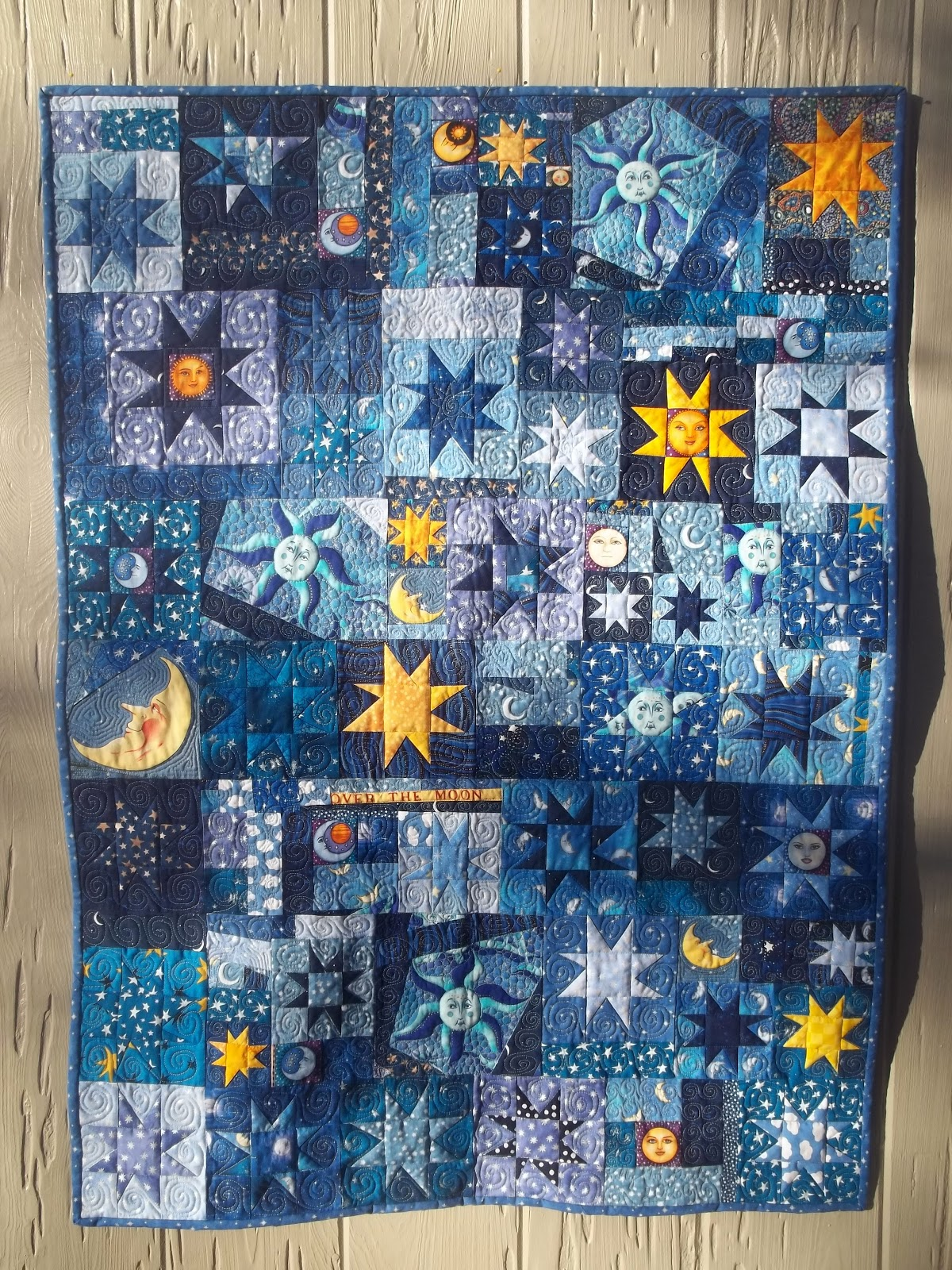 Kelly Girl Quilts Stars And Moon Quilt Finish