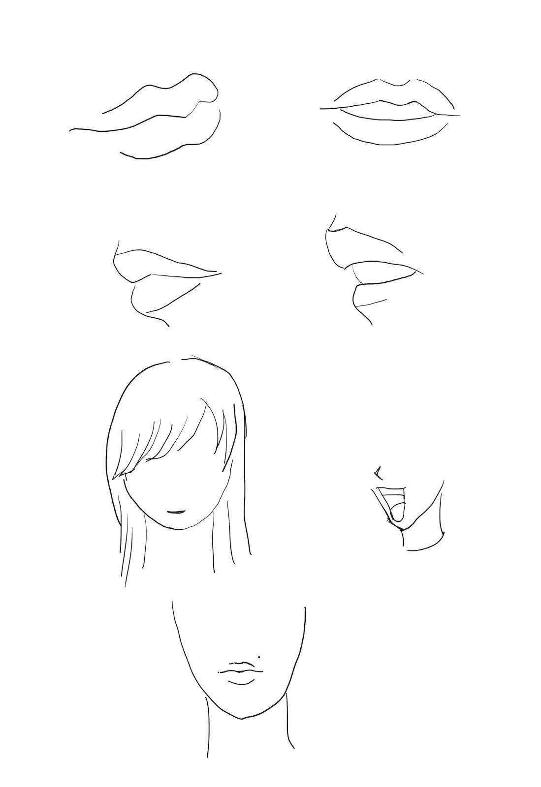 f0cd307dcf E agora vamos começar a ver como se faz a boca feminina aqui esta alguns  exemplos