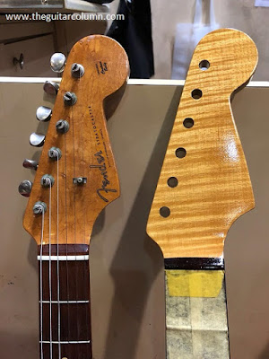 quartersawn flamed maple headstock