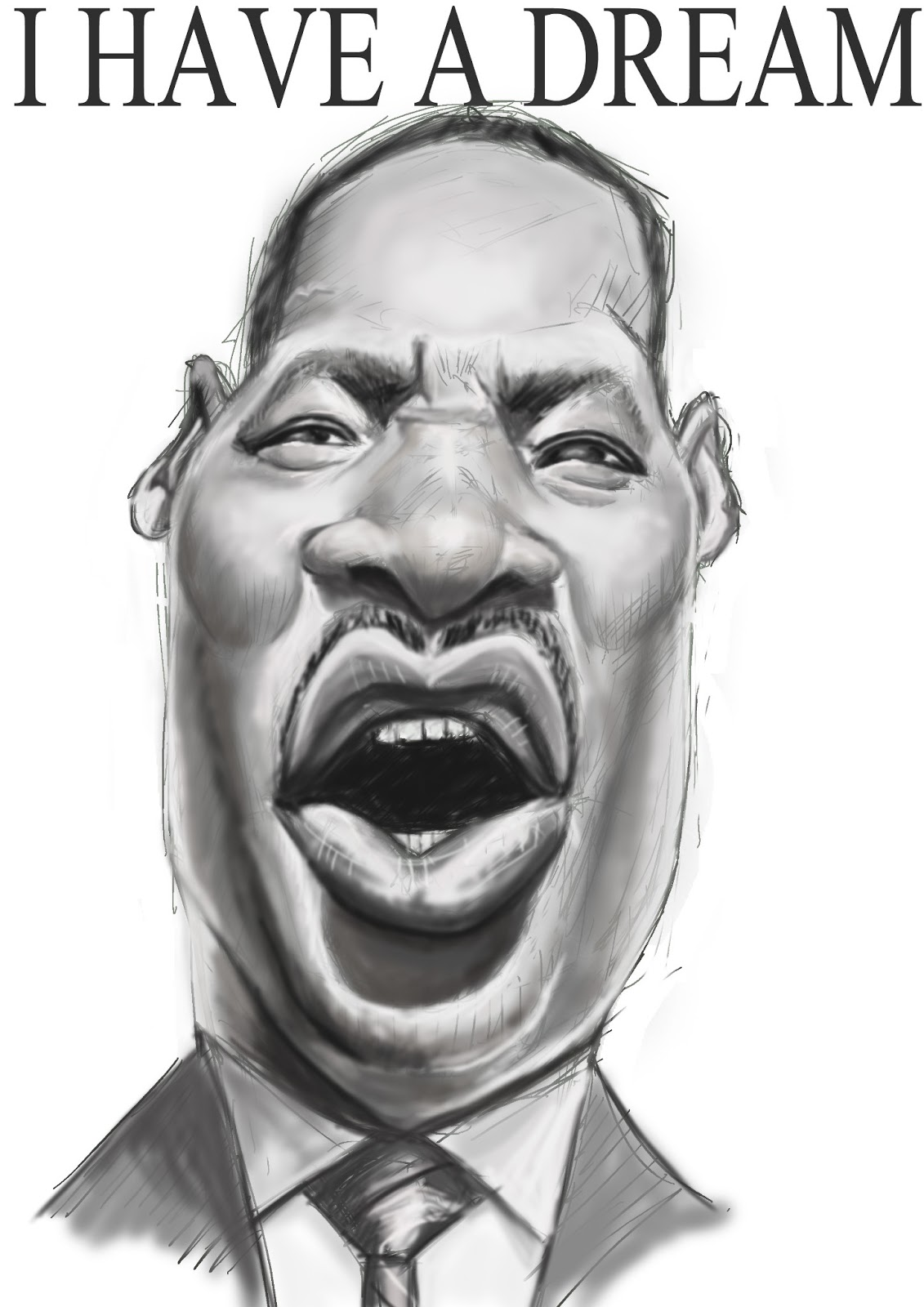 It is a graphic of Bewitching Drawing Of Martin Luther King