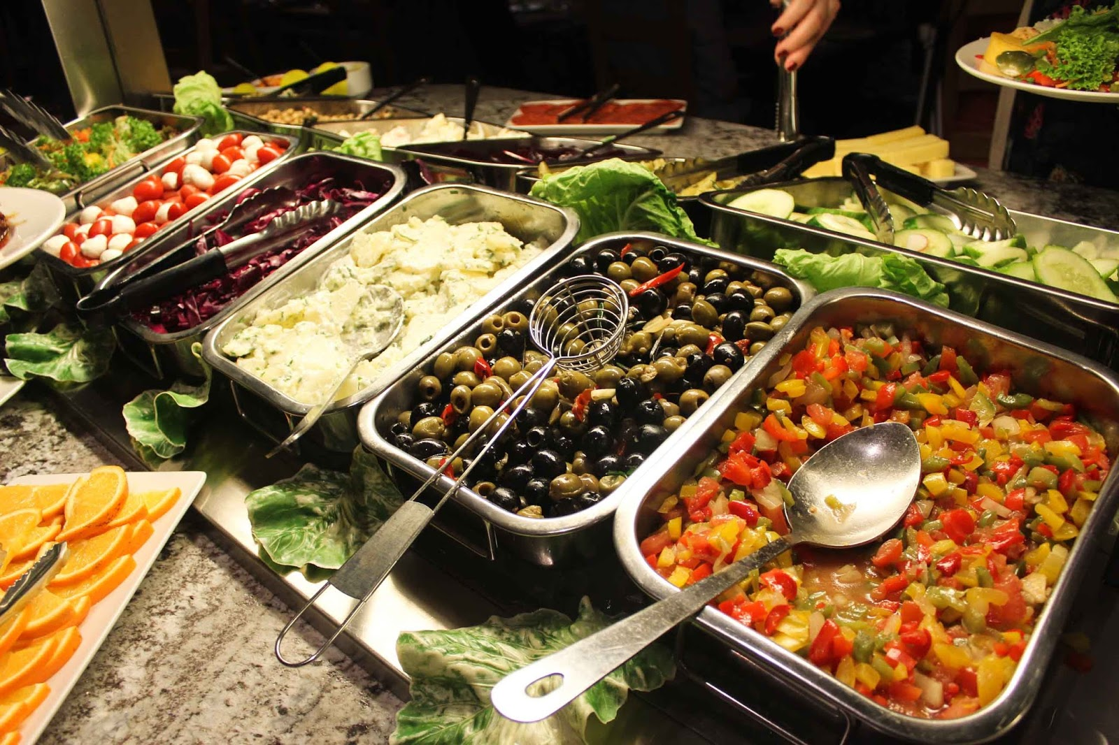 Salad bar at Bem Brazil