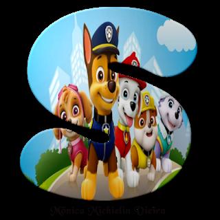 Paw Patrol Letters. Letras de Paw Patrol