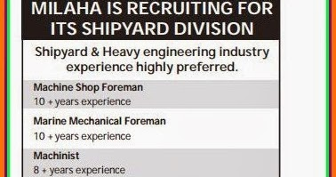 Milaha Shipyard division Job Vacancies in Qatar - Gulf Jobs