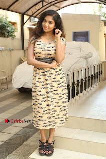 Telugu Actress Karunya Chowdary Stills in Short Dress at ATM Not Working Press Meet  0286.jpg