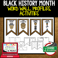 Black History Month Profiles & Activity Pages (History) Digital Google Option, Word Wall