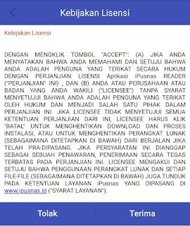 kebijakan lisensi