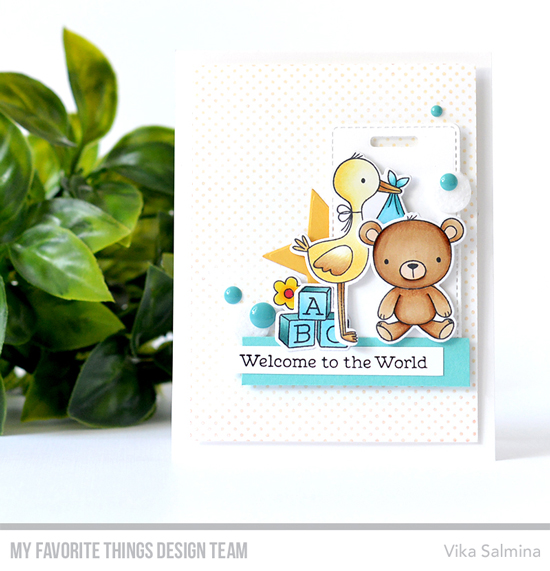 Handmade card by Vika Salmina featuring products from My Favorite Things #mftstamps