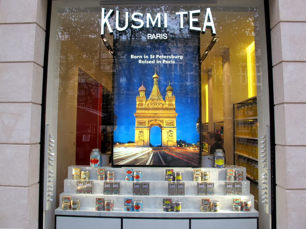Kusmi Tea on the Champs Elysee, Paris