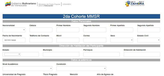 Aspirantes interesados en cursar estudios en la MMSR en sus diferentes áreas de formación pueden registrarse