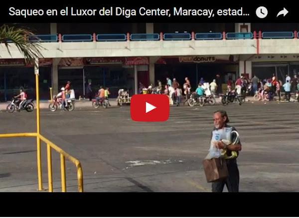 Así saquearon el Centro Comercial Diga Center en Maracay