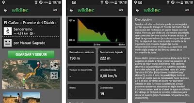 Graba tus rutas o recorre una de las más de 3 millones disponibles en Wikiloc
