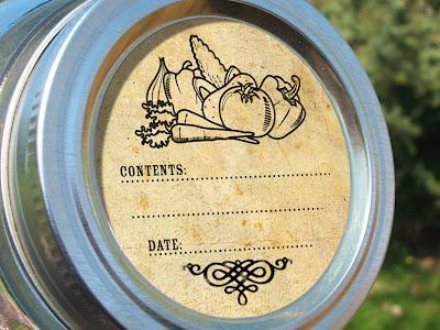vegetable canning jar label