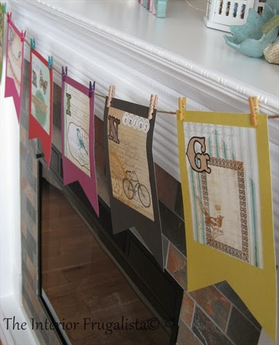 DIY Flag Banner for a Spring Mantle under $10.00!