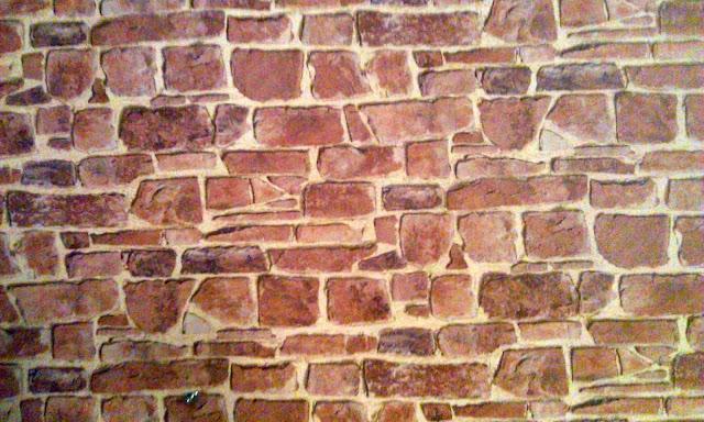 cegła na ścianie, cegła w salonie, cegła w kuchni, tapeta z czerwonej cegły