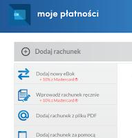 Mojeplatnosci.pl - dodawanie rachunków