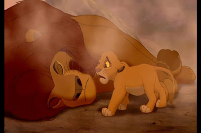 O rei Leão Mufasa morte triste simba