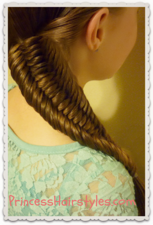 Three strand fishtail braid tutorial