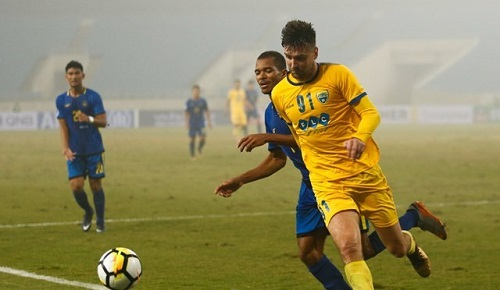 Van Bakel thi đấu cho CLB Thanh Hóa
