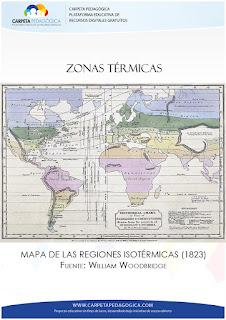 Mapa de las Regiones Isotérmicas, (1823)