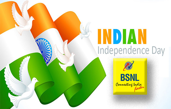 BSNL Independence Day Offers 2018 : Launches Freedom Offer STV 9 & STV 29 with unlimited calls, unlimited data 2GB/Day bundled with free caller tunes