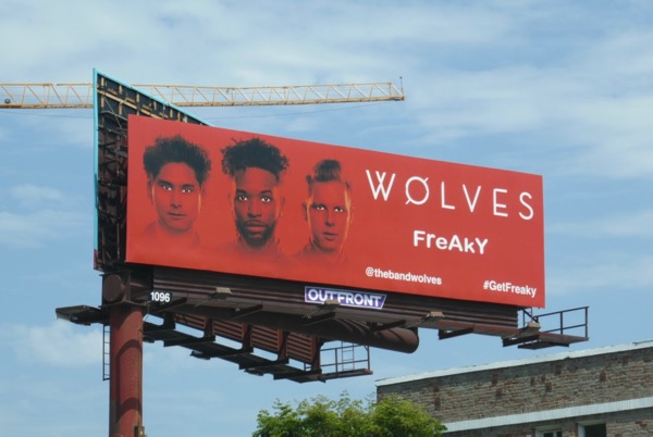 Wolves band Freaky billboard