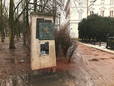 warsaw ghetto wall monument
