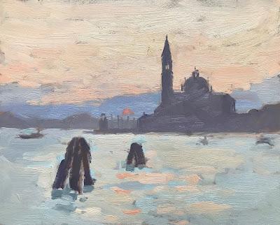 #245 'Sunrise, San Giorgio' 8×10″