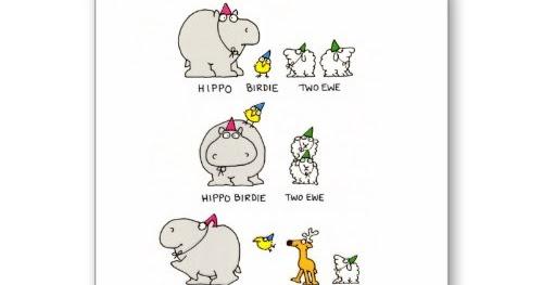 I Smiled You: Hippo Birdie Two Ewe