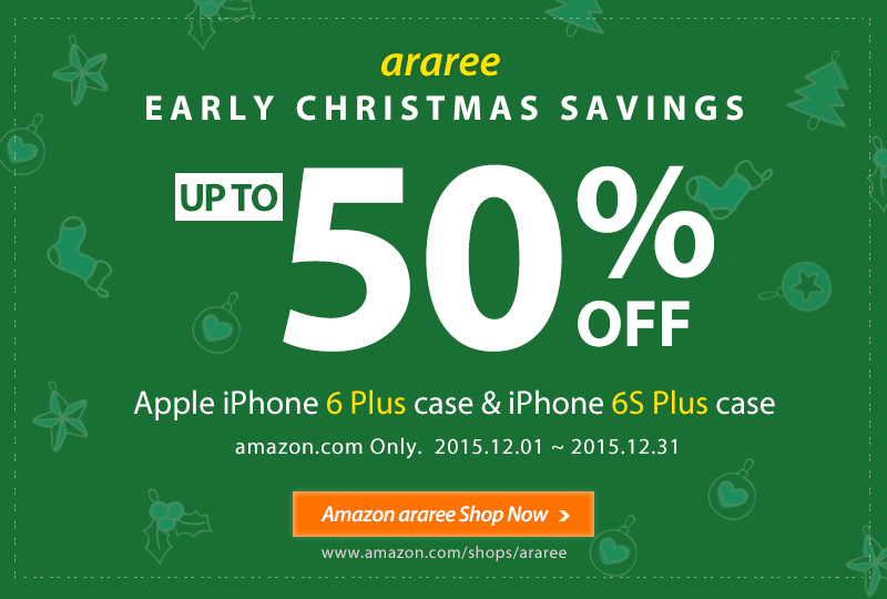 Early Christmas Savings up to 50% OFF iPhone 6/6S Plus Case amazon.com Only