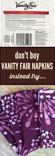 Don't Buy Vanity Fair Napkins, Instead Try cloth napkins