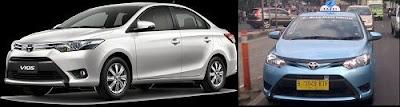 Toyota Limo (All New Vios) menjadi Taksi