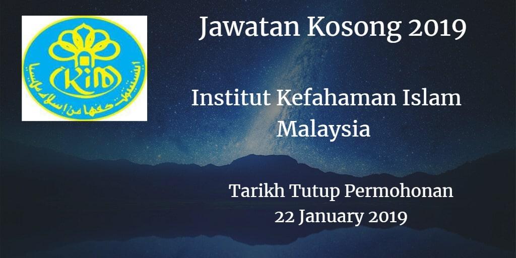 Jawatan Kosong IKIM 22 January 2019