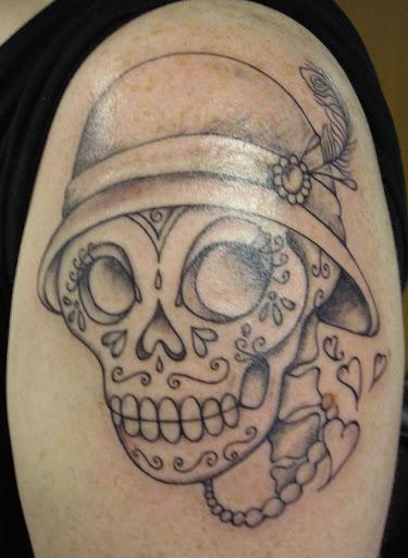 Este esqueleto flapper girl tatuagem