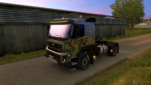 Army skin for Volvo FMX 540 (EviL)