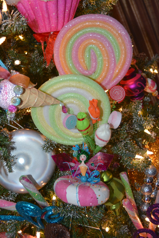 Rachel J Special Events: Candyland Christmas Tree Decor