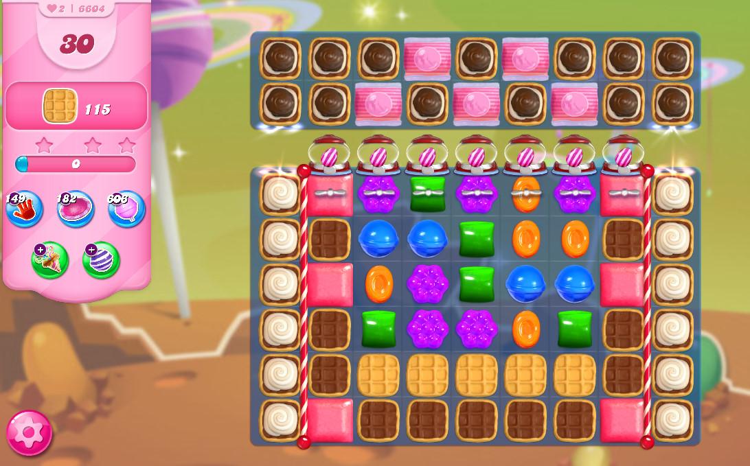 Candy Crush Saga level 6604