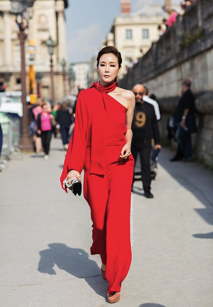 Red Valentino Jumpsuit, Street Style