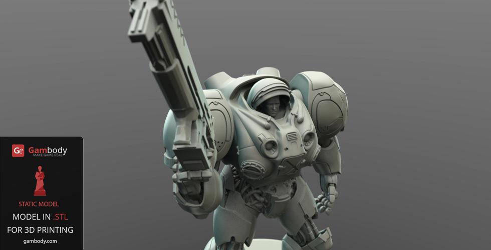 StarCraft Terran Marine 3D print