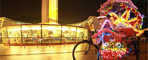 MENARA Taming Sari Tempat Menarik di Melaka MALAM
